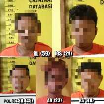 Polres Dumai Amankan Pelaku Tindak Pidana Perjudian Di Sungai Sembilan