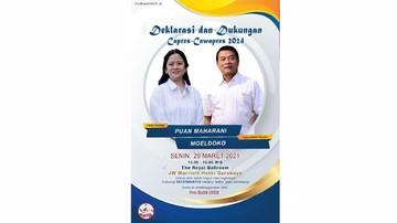 PDIP Risih Poster Puan-Moeldoko Beredar: Ganggu Kewarasan