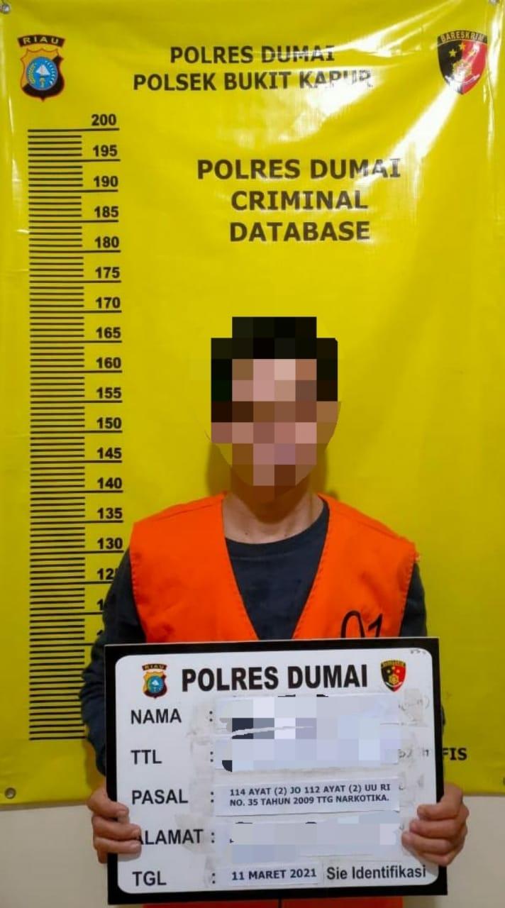 Tim Opsnal Unit Reskrim Bukit Kapur Berhasil Bekuk Pengedar Narkotika Jenis Shabu